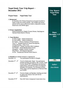 Nepal study