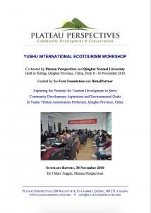 Yushu ecotourism workshop 2010